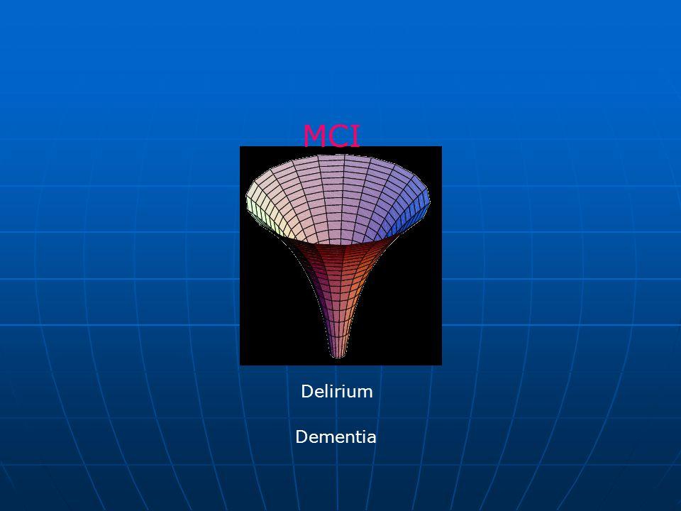 MCI Delirium Dementia