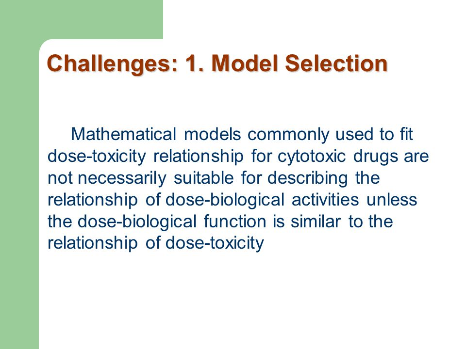 Mathematical models commonly used to fit dose-toxicity relationship for cytotoxic drugs are not necessarily suitable for describing the relationship o