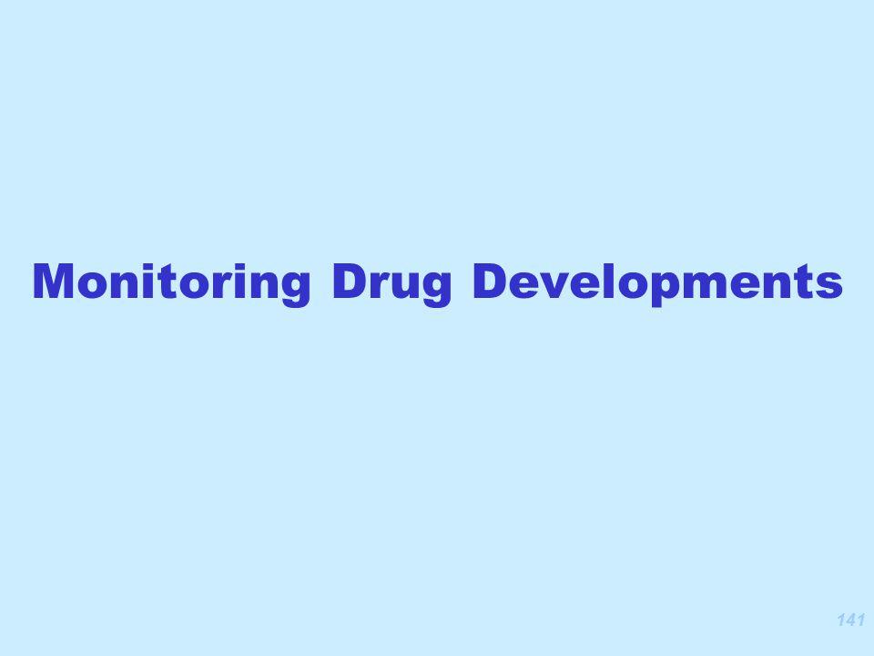 141 Monitoring Drug Developments