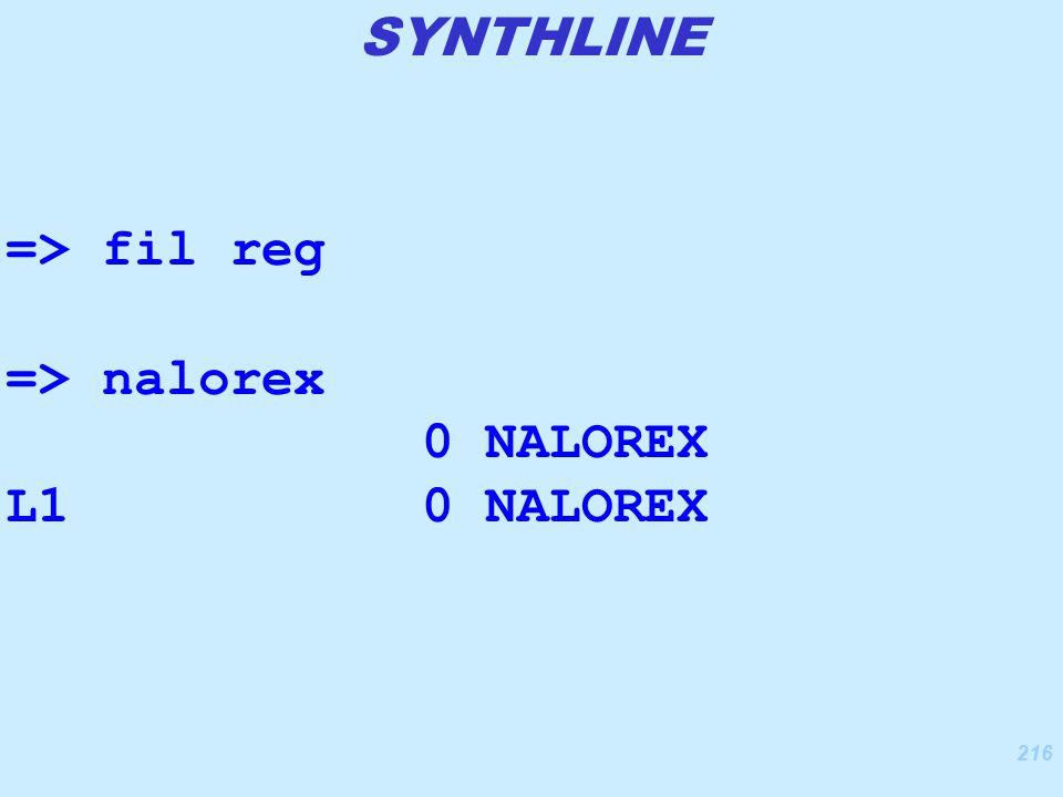 216 => fil reg => nalorex 0 NALOREX L1 0 NALOREX SYNTHLINE