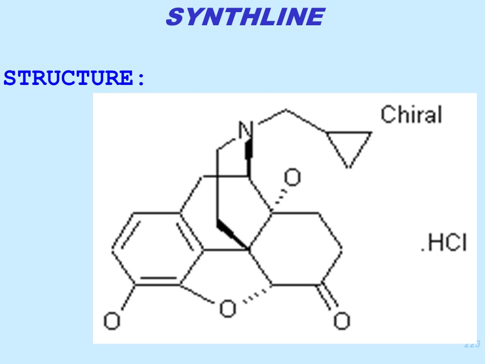 223 STRUCTURE: SYNTHLINE