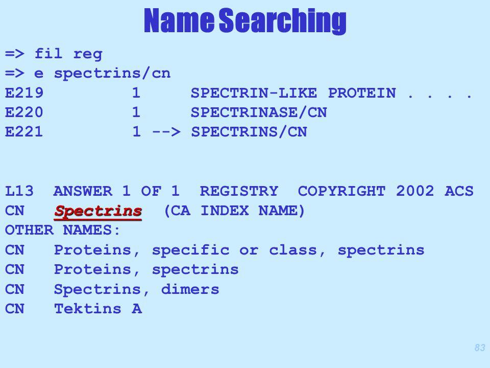 83 => fil reg => e spectrins/cn E219 1 SPECTRIN-LIKE PROTEIN....