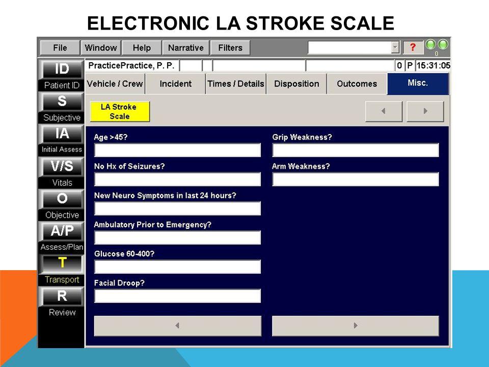 ELECTRONIC LA STROKE SCALE