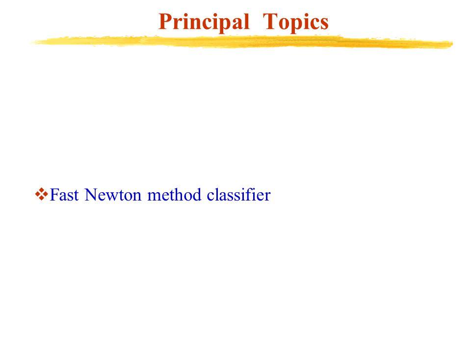 Principal Topics  Fast Newton method classifier