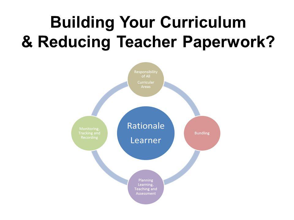 Building Your Curriculum & Reducing Teacher Paperwork?