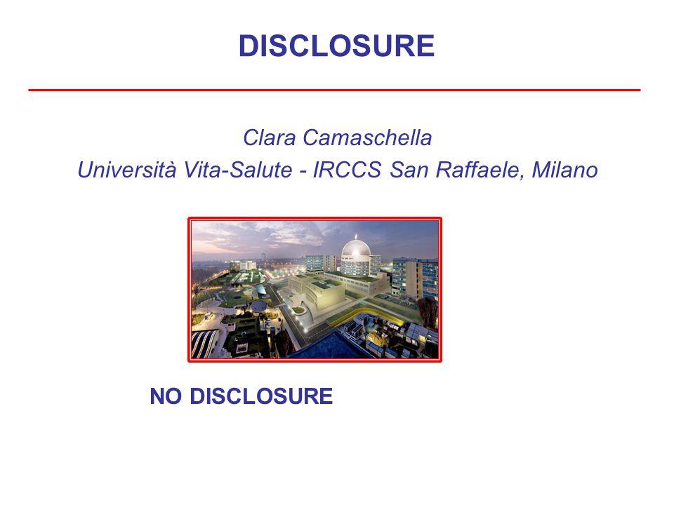 DISCLOSURE Clara Camaschella Università Vita-Salute - IRCCS San Raffaele, Milano NO DISCLOSURE