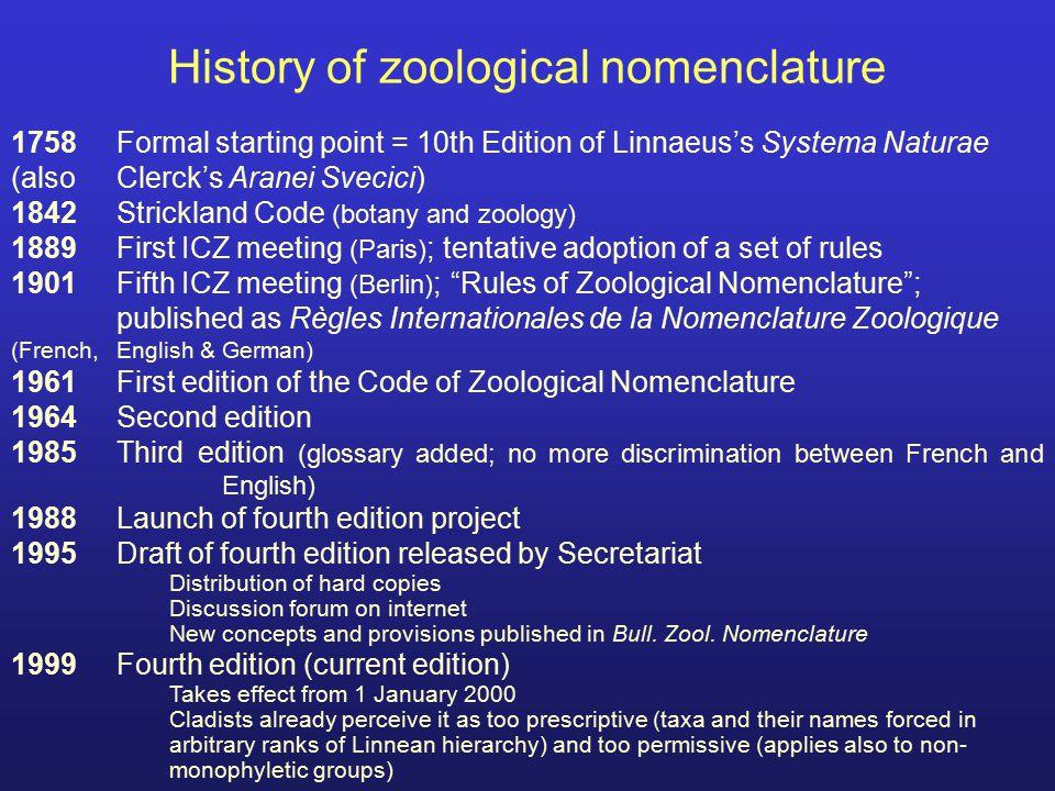 Table 1.Inter-Code Generic homonyms Botanical genus names homonyms in Zool.