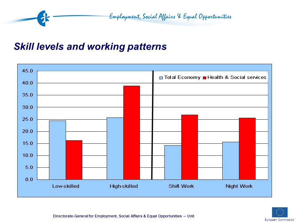 European Commission Directorate-General for Employment, Social Affairs & Equal Opportunities ─ Unit Skill levels and working patterns