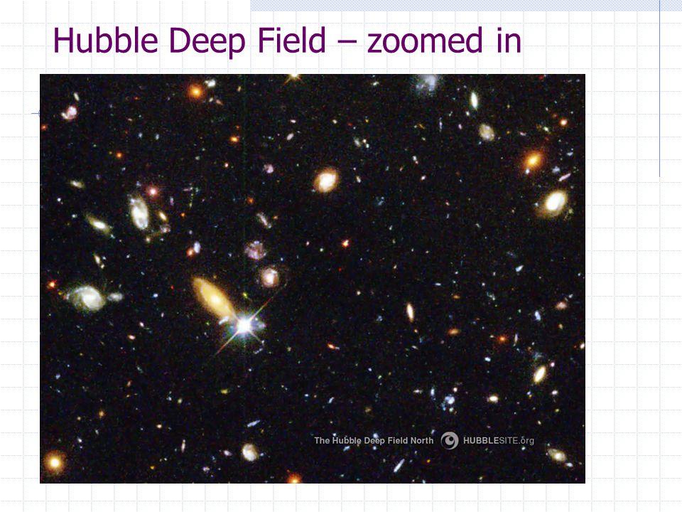 Hubble Deep Field – zoomed in