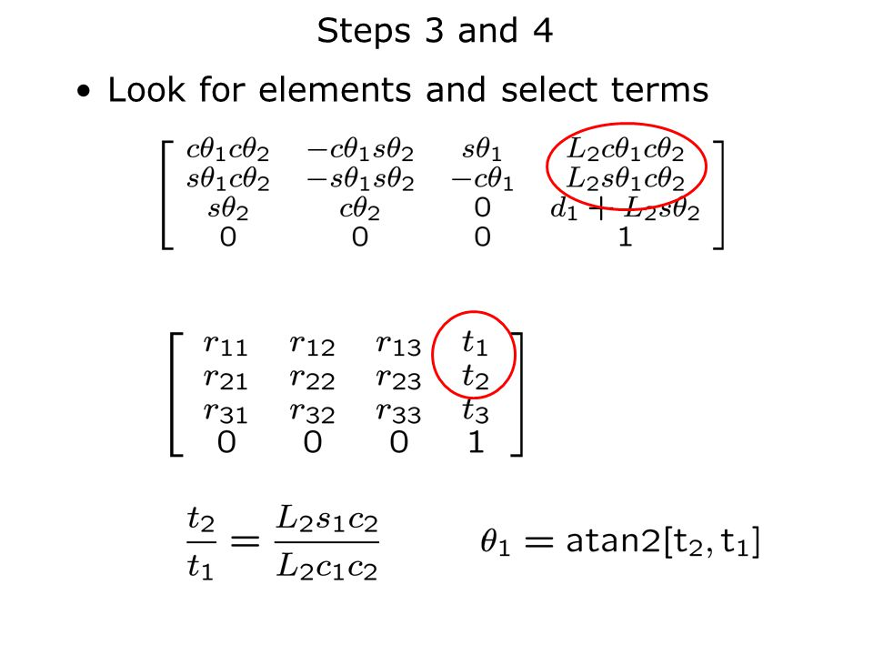 Steps 3 and 4 Look for elements and select terms