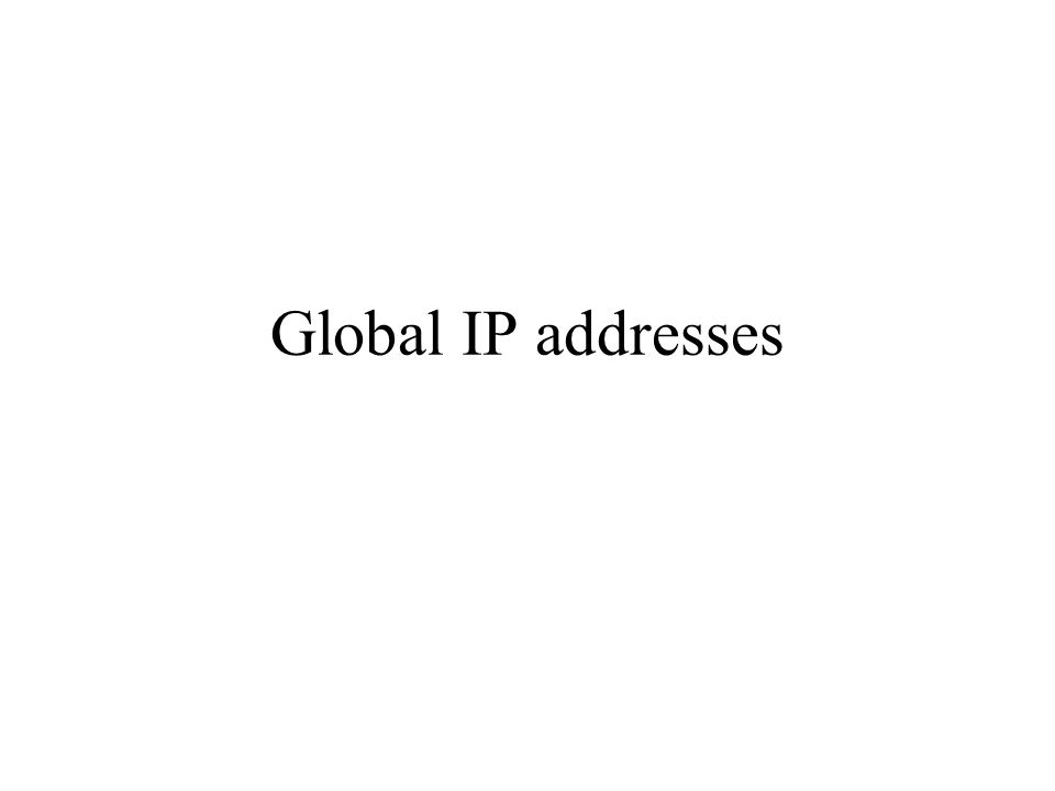 Type of forwarding table entries Network route – Destination addresses is a network address (e.g., 10.0.2.0/24) – Most entries are network routes Host route – Destination address is an interface address (e.g., 10.0.1.2/32) – Used to specify a separate route for certain hosts Default route – Used when no network or host route matches Loopback address – Routing table for the loopback address (127.0.0.1) – The next hop lists the loopback (lo0) interface as outgoing interface