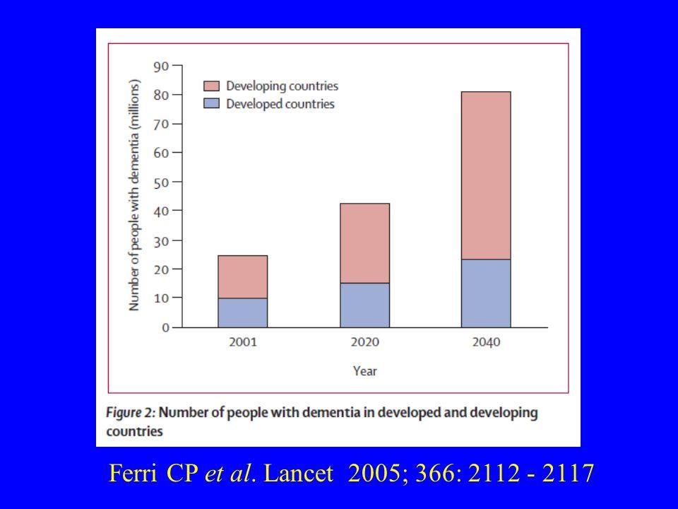 Ferri CP et al. Lancet 2005; 366: 2112 - 2117