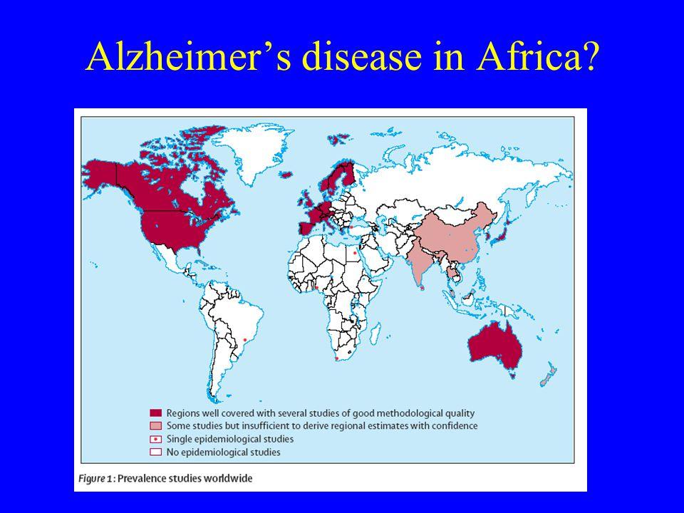 Alzheimer's disease in Africa?