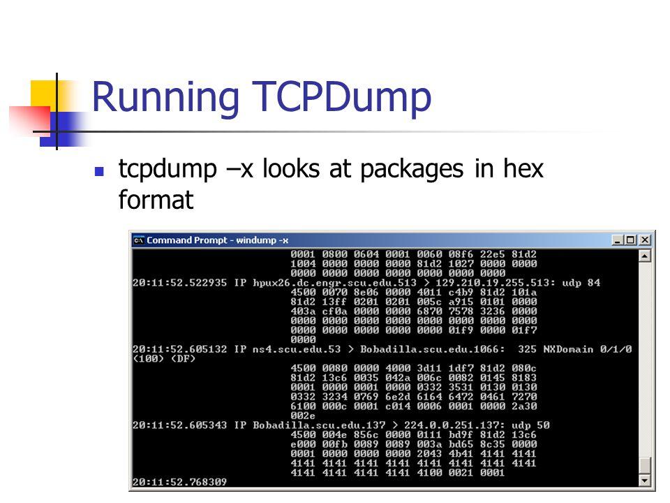 TCPDump Filters Reference single bits through bit masking.