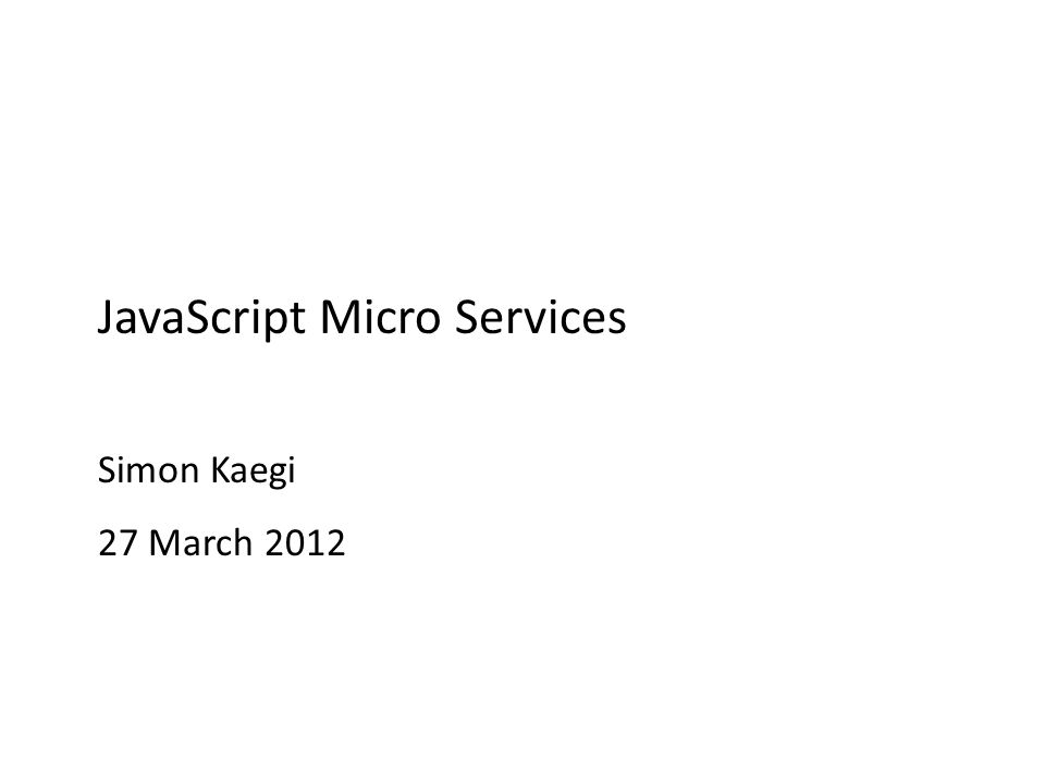 What are Micro Services? OSGi minus the modularity