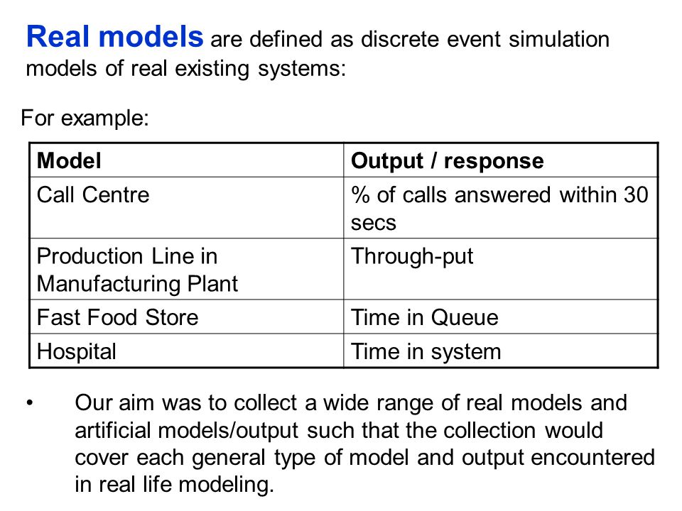FUTURE WORK To determine the most appropriate methods for automating warm-up and run-length analysis To determine the effectiveness of the analysis methods To revise the methods where necessary in order to improve their effectiveness and capacity for automation To propose a procedure for automated output analysis of warm-up and run-length