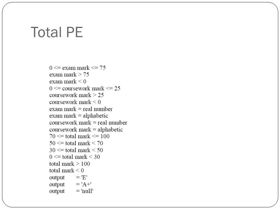 Total PE