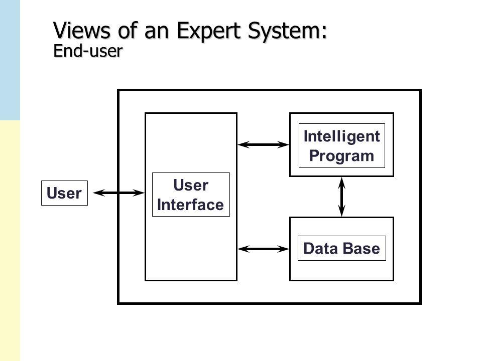 Views of an Expert System: End-user User Interface Intelligent Program Data Base