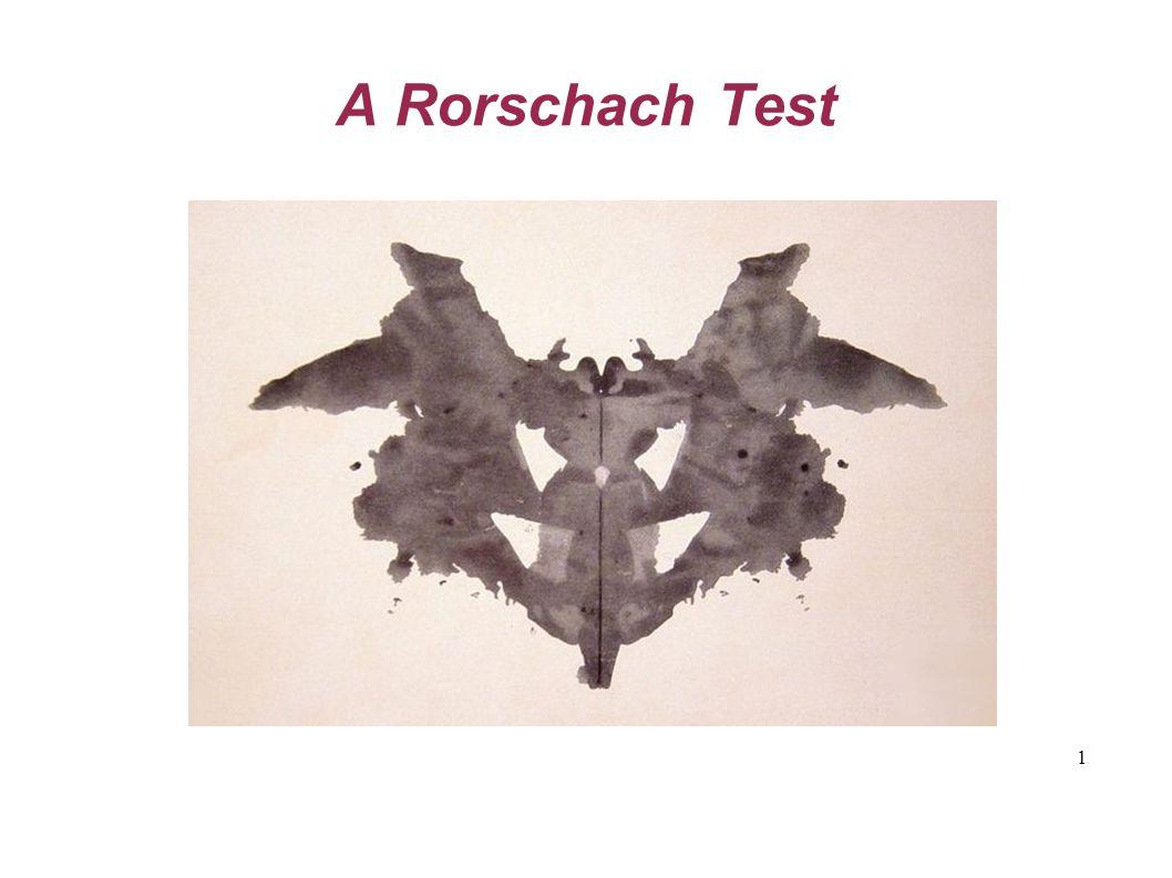 1 A Rorschach Test