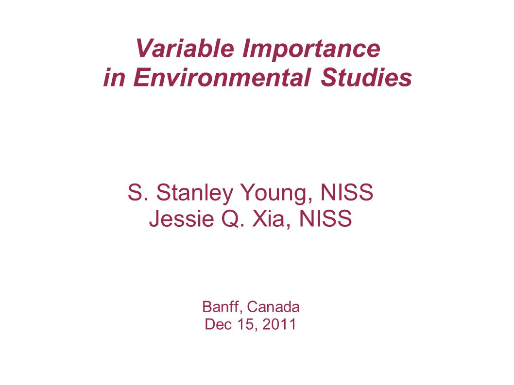 S. Stanley Young, NISS Jessie Q.