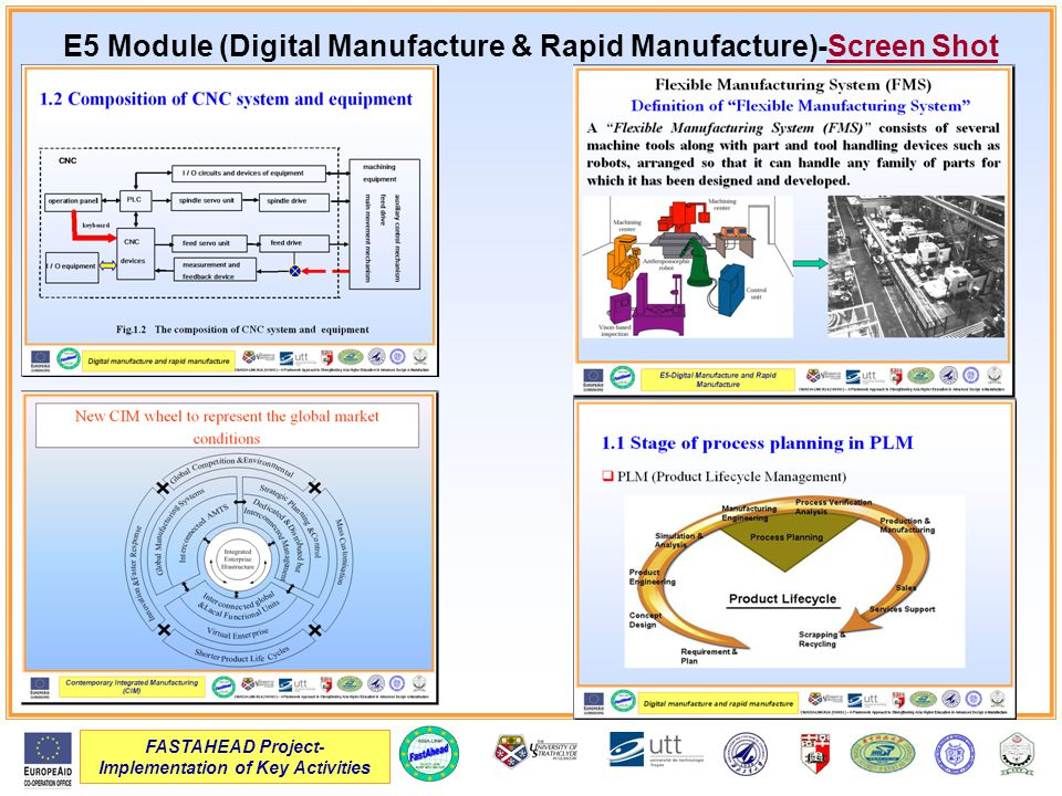 FASTAHEAD Project- Implementation of Key Activities E5 Module (Digital Manufacture & Rapid Manufacture)-Screen Shot