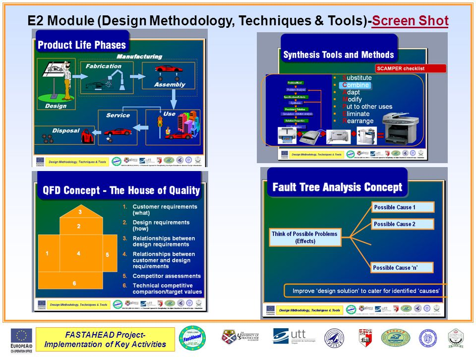 FASTAHEAD Project- Implementation of Key Activities E2 Module (Design Methodology, Techniques & Tools)-Screen Shot