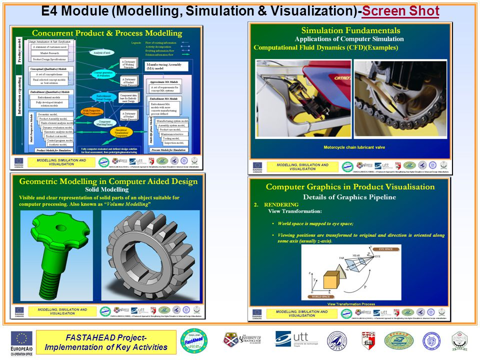 FASTAHEAD Project- Implementation of Key Activities E4 Module (Modelling, Simulation & Visualization)-Screen Shot