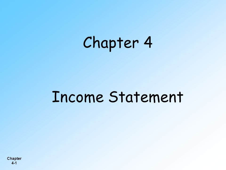 Chapter 4-42  Under iGAAP, companies are required to prepare as a primary financial statement either a statement of stockholders' equity similar to the one prepared under U.S.