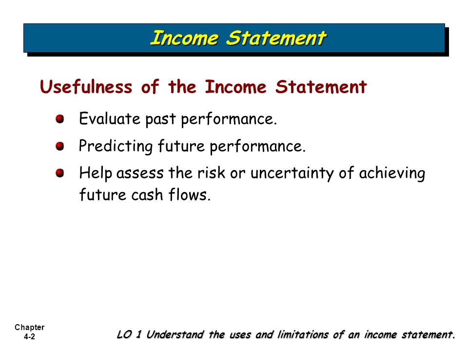 Chapter 4-13 Multiple-Step Format Illustration (E4-4): Prepare an income statement from the data below.