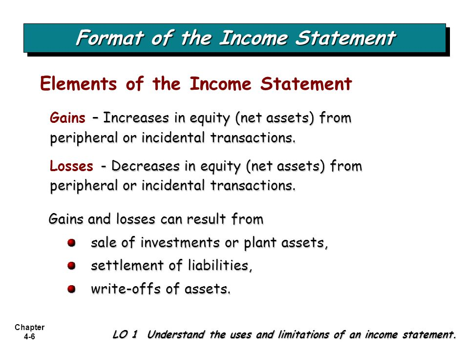 Chapter 4-7 Single-Step Income Statement LO 2 Prepare a single-step income statement.