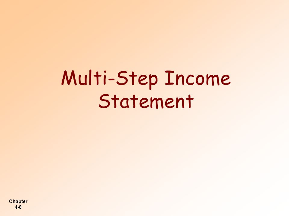 Chapter 4-39 Comprehensive Income LO 8 Explain how to report other comprehensive income.