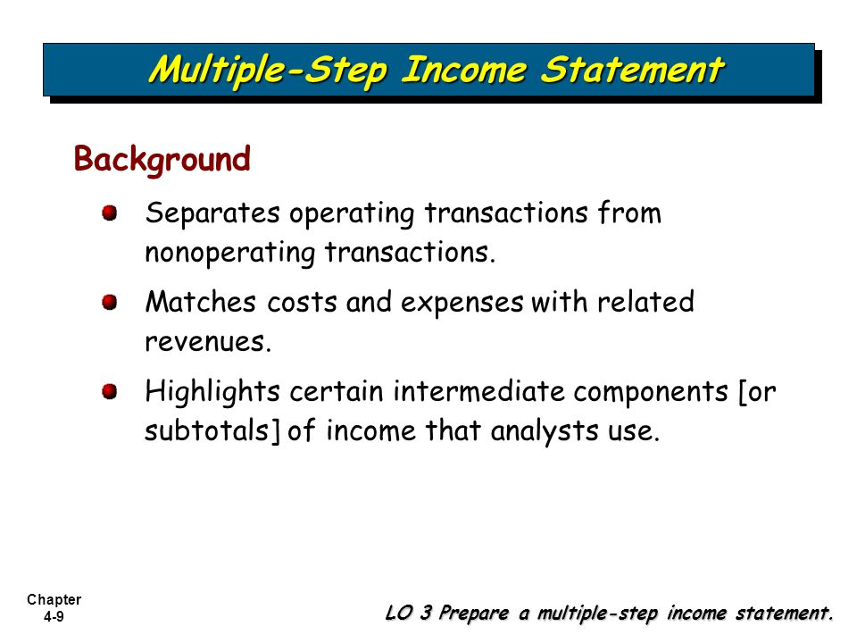 Chapter 4-40 Comprehensive Income LO 8 Explain how to report other comprehensive income.