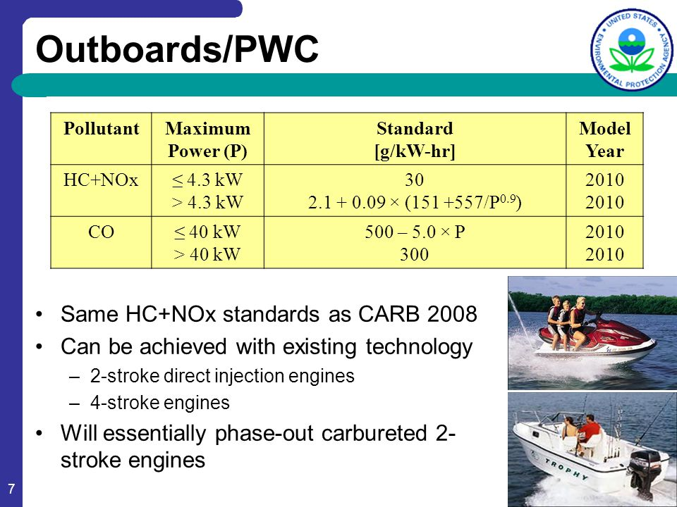 18 Not-To-Exceed Standards NTE standards are a multiplier times the E4 duty cycle certification value 2-Stroke Engines