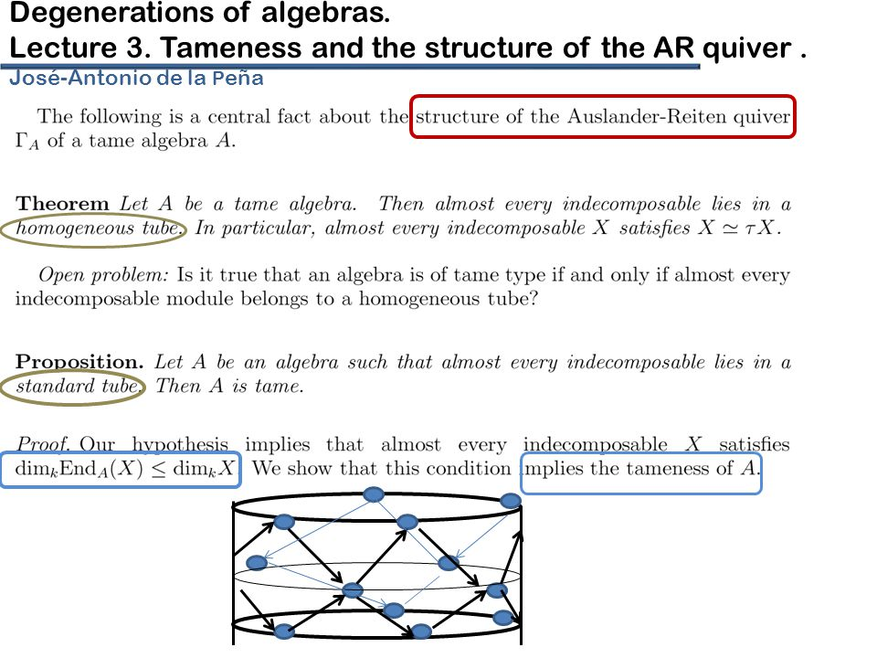 Degenerations of algebras.Lecture 3. Tameness and the structure of the AR quiver.