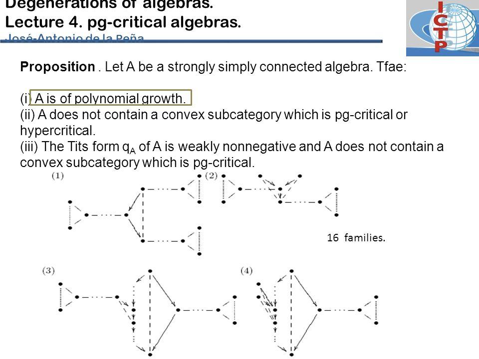 Degenerations of algebras.Lecture 4. pg-critical algebras.