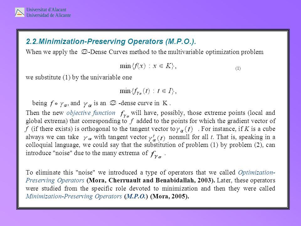 2.2.Minimization-Preserving Operators (M.P.O.).