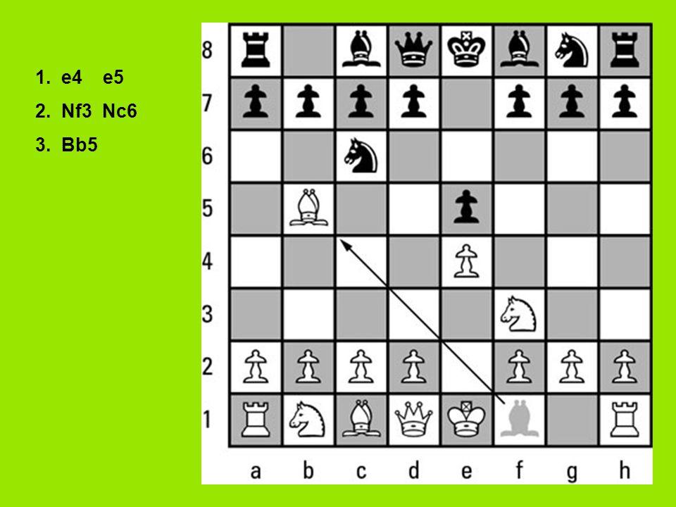 1. e4 e5 2. Nf3 Nc6 3. Bb5