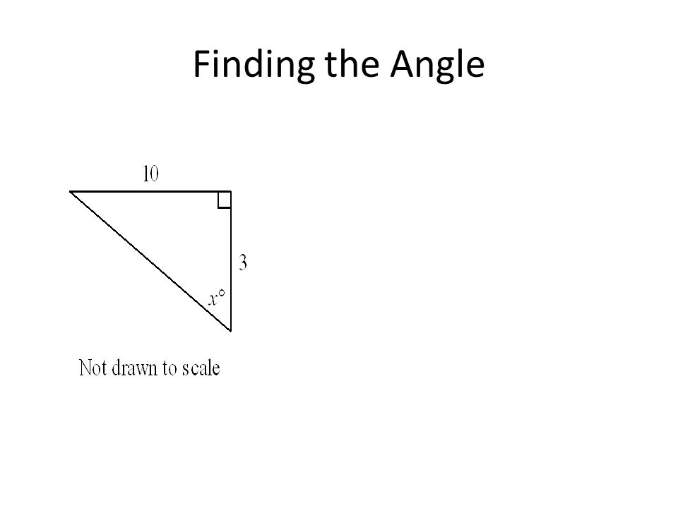 Finding the Angle