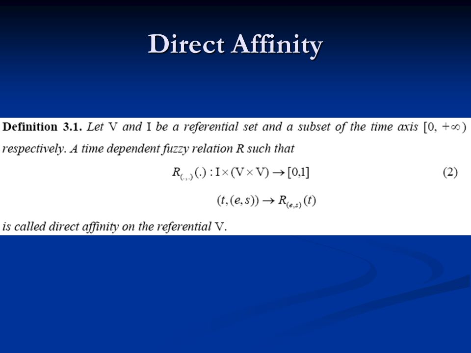 Direct Affinity