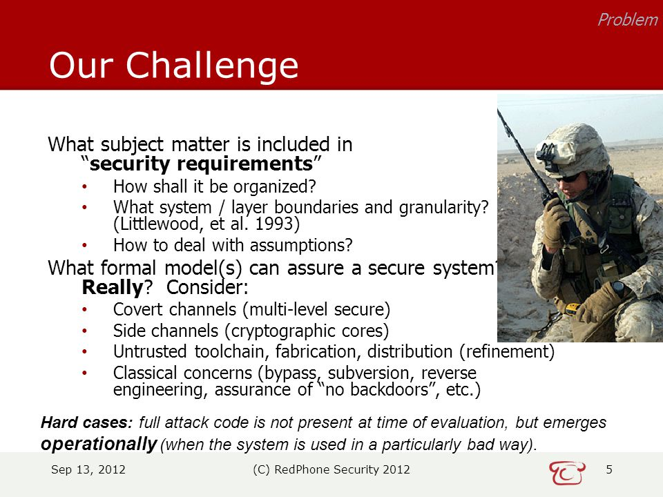 What subject matter is included in security requirements How shall it be organized.