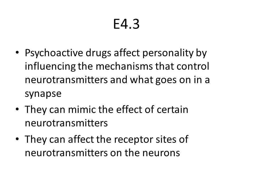 E.4.4 Inhibitory Drugs – Mimic inhibitory neurotransmitters – E.g.