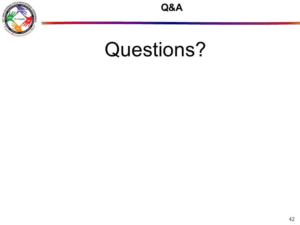 Q&A Questions? 42