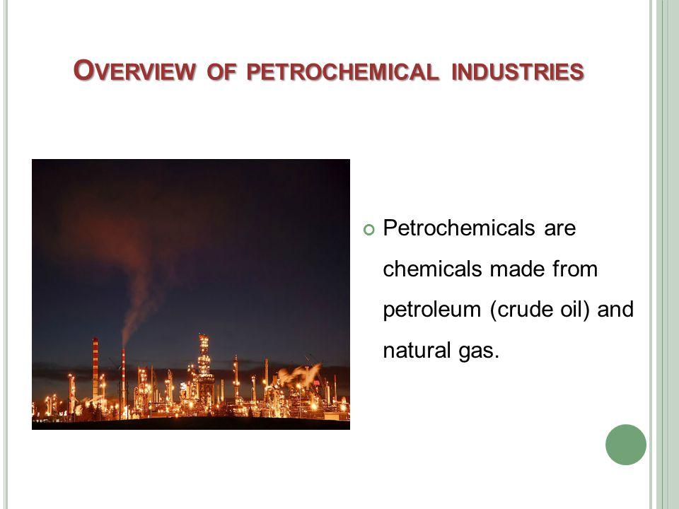 P RIMARY P ETROCHEMICALS Primary Petrochemicals include: olefins (ethylene, propylene and butadiene) aromatics (benzene, toluene, and xylenes); and methanol.