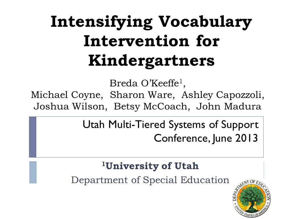 This Session  Importance of Vocabulary  Conceptual framework for early literacy instruction  Early Vocabulary Instruction  Choosing Words  Defining Words  Lesson Planning  Example Study  Example Instructional Activities  Results