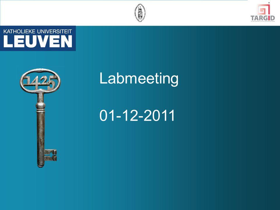 Labmeeting 01-12-2011