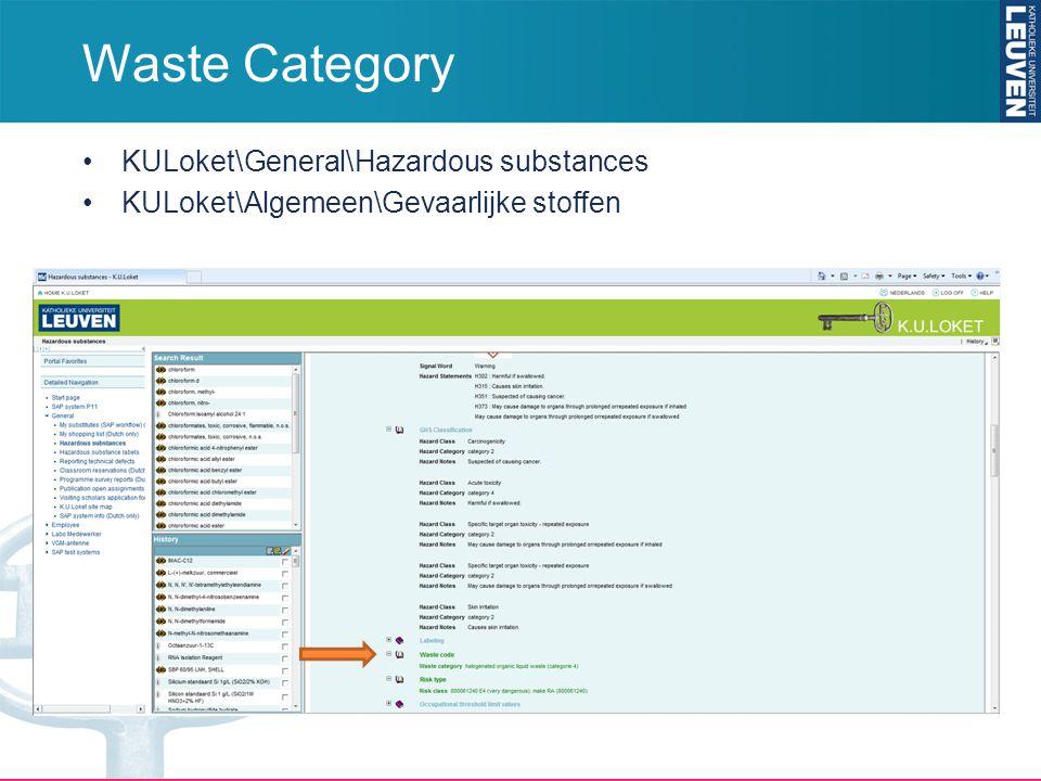 KULoket\General\Hazardous substances KULoket\Algemeen\Gevaarlijke stoffen