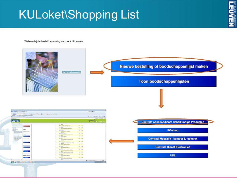 KULoket\Shopping List