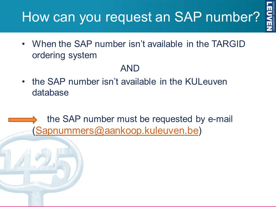 How can you request an SAP number.