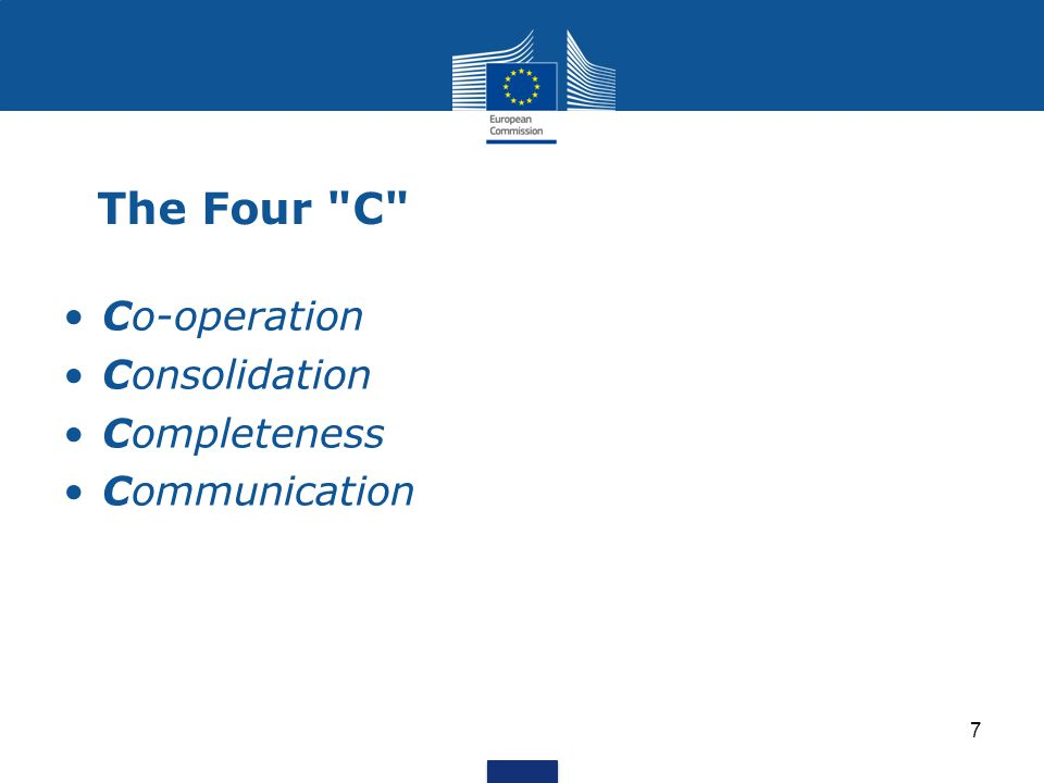 The Four C Co-operation Consolidation Completeness Communication 7