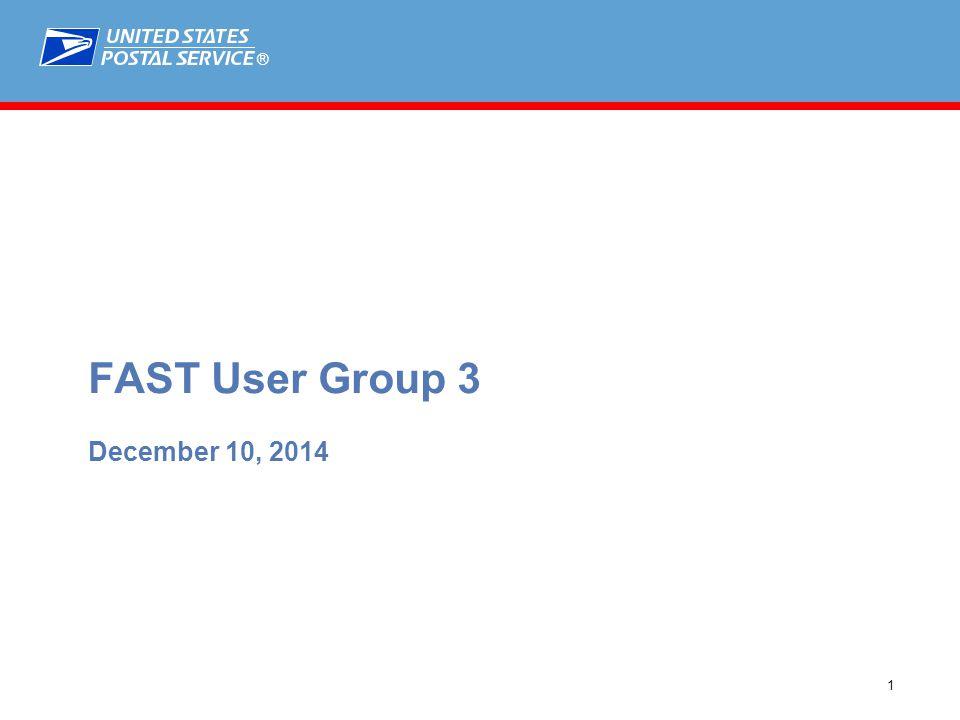 ® 1 MTAC 138 April 23, 2014 FAST User Group 3 December 10, 2014